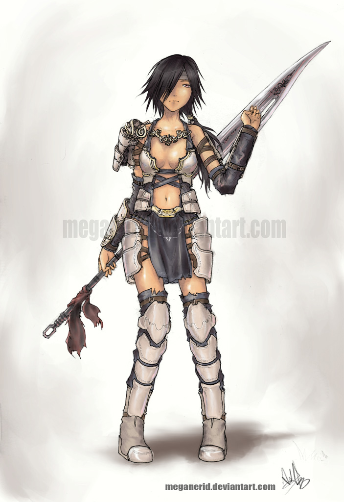 Races and stuff Female_Warrior_by_MeganeRid