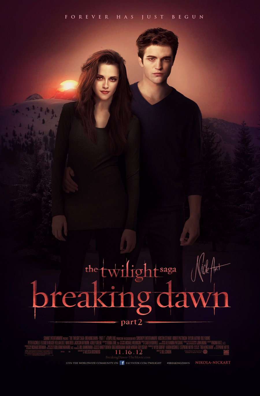 Amazon.de: Twilight - Poster - Breaking Dawn Part 2 - Cast ...