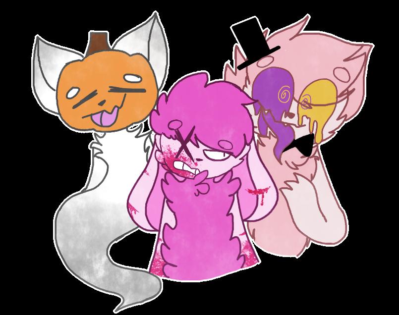 spooky gang by Bonbonni