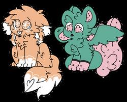 kittydog fruit adopts (open!!) by Bonbonni