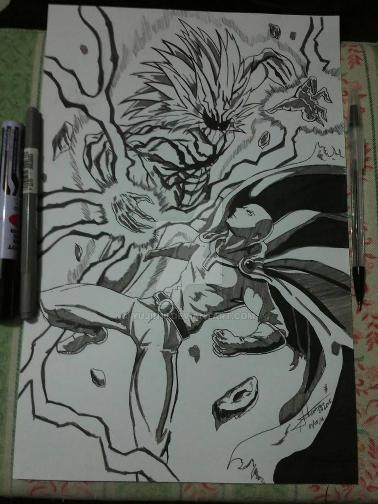 One Punch Man Saitama Vs Lord Boros by yujin15 on DeviantArt