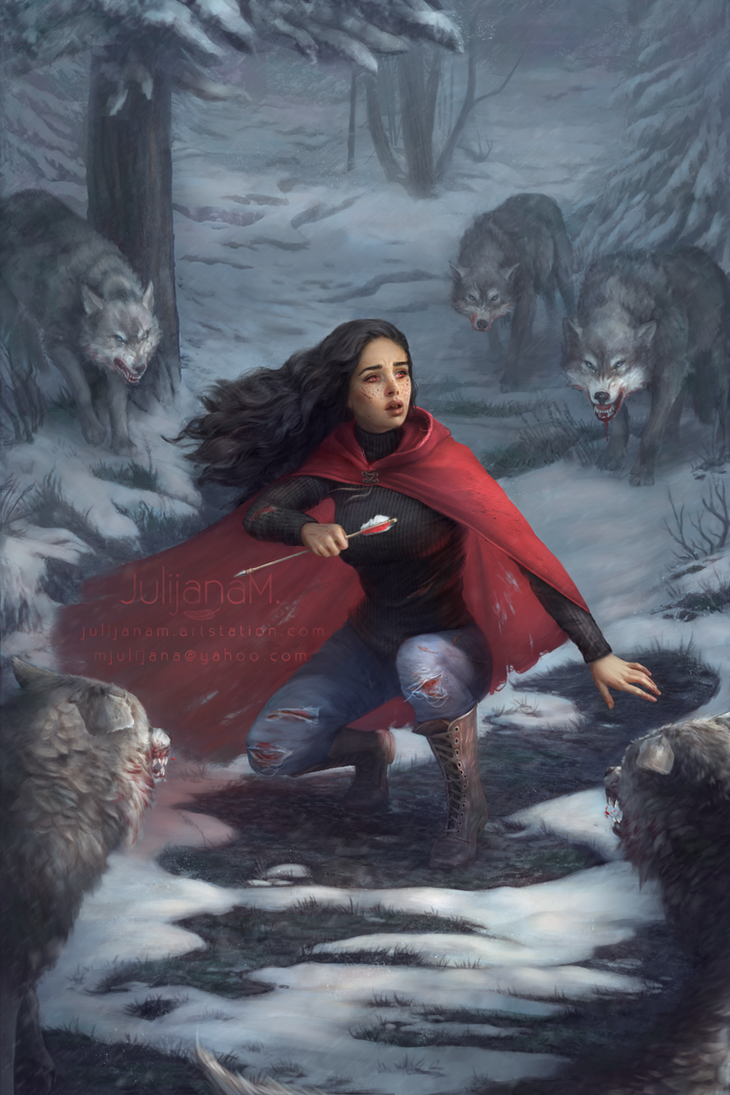 The Girl in the Red Cloak by JulijanaM