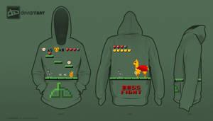 8-bit Challenge: Deviantart: The Game Hoodie by AmericanGirlHope