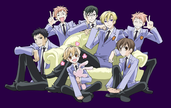 Watching: Ouran High School Host Club; Eating: Cake!