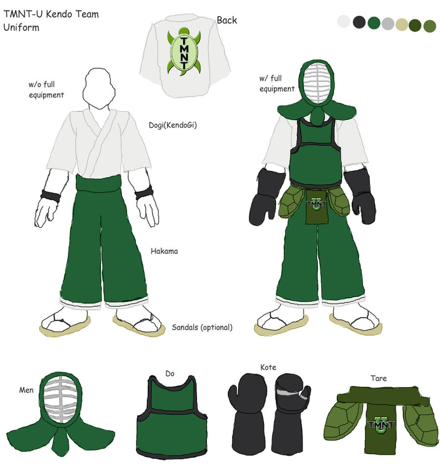 TMNTU_Kendo Team Uniform by DNLnamek01