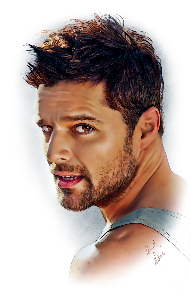 Ricky Martin Hairstyle 2012