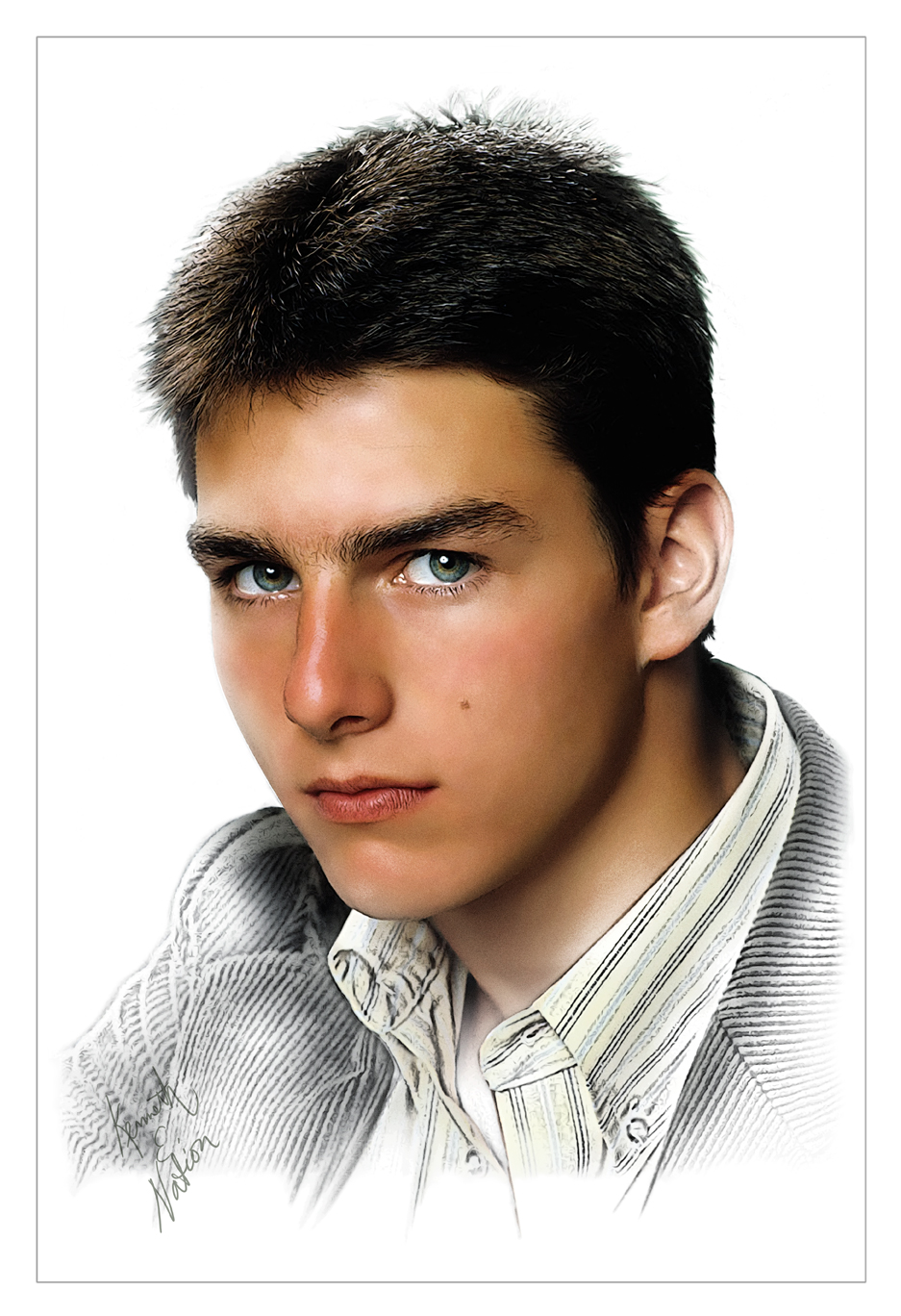 Young Tom Cruise by kenernest63a