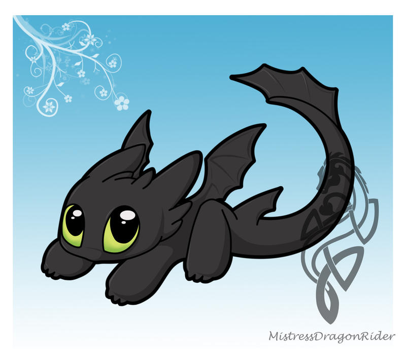 HTTYD Chibi Toothless by Sirens-Voice