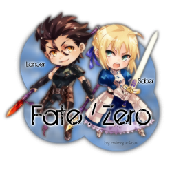 Fate-Zero sign - Lancer and Saber by Mimy-Miki