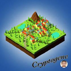 Village Isometric Summer by Cryptogene