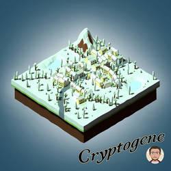 Village Isometric Winter by Cryptogene