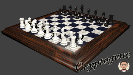 Low poly chess set