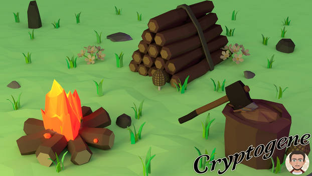 Low Poly Scene - Camping