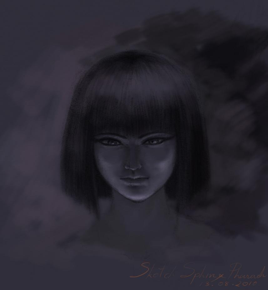 1ª Aventura - Ameaça Fantasma no Santuário - ( Final ) - Página 17 Sketch_Sphinx_Pharaoh_by_Shadowmydog