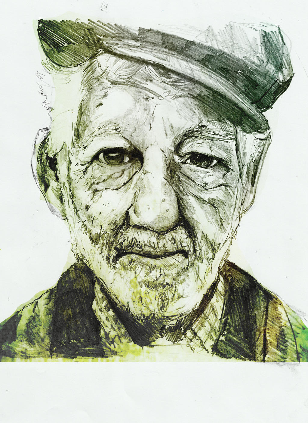 old man portrait by ravenmilo