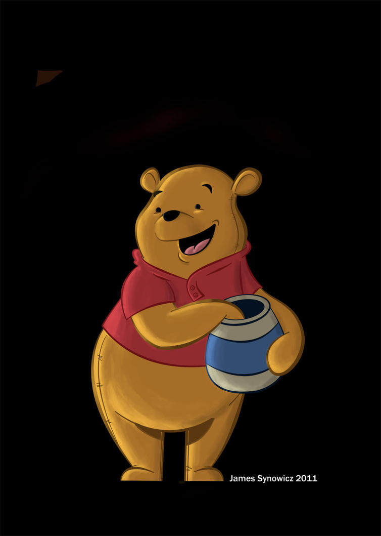 Pooh painting. by chip14