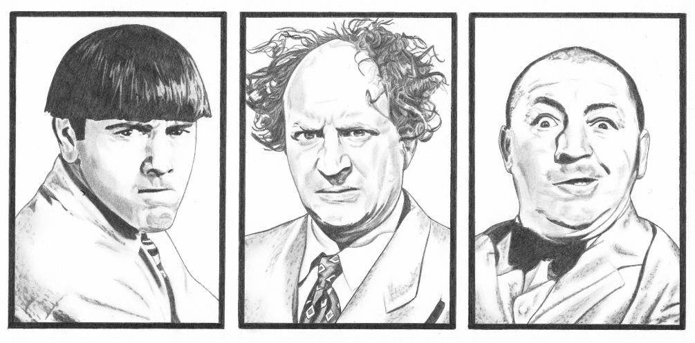 The three stooges by bloodyvoodoo on deviantart for The three stooges coloring pages
