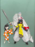 Sesshoumaru and Rin by PitushaZee