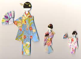 Origami dolls5 by PitushaZee