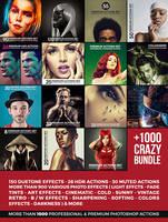 +1000 Premium Photoshop Actions by hemalaya