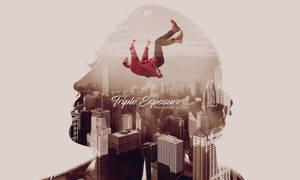Triple Exposure Photoshop Action And Template