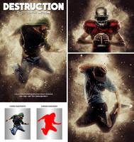 Destruction Photoshop Action by hemalaya