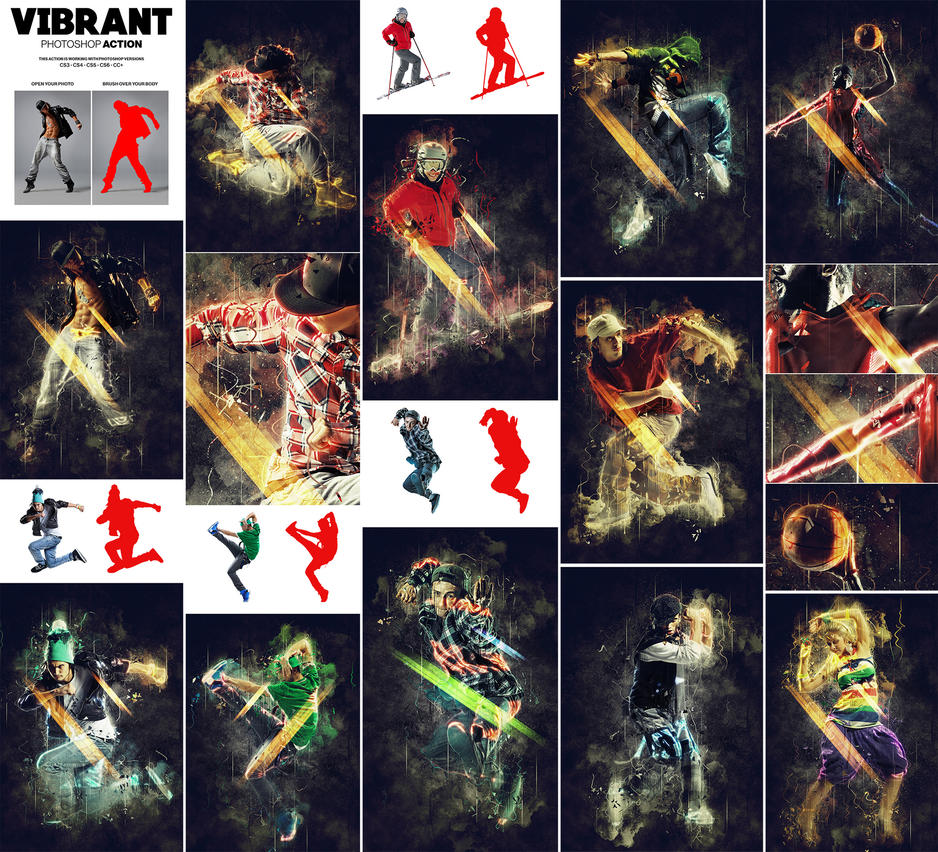 Vibrant Photoshop Action by hemalaya