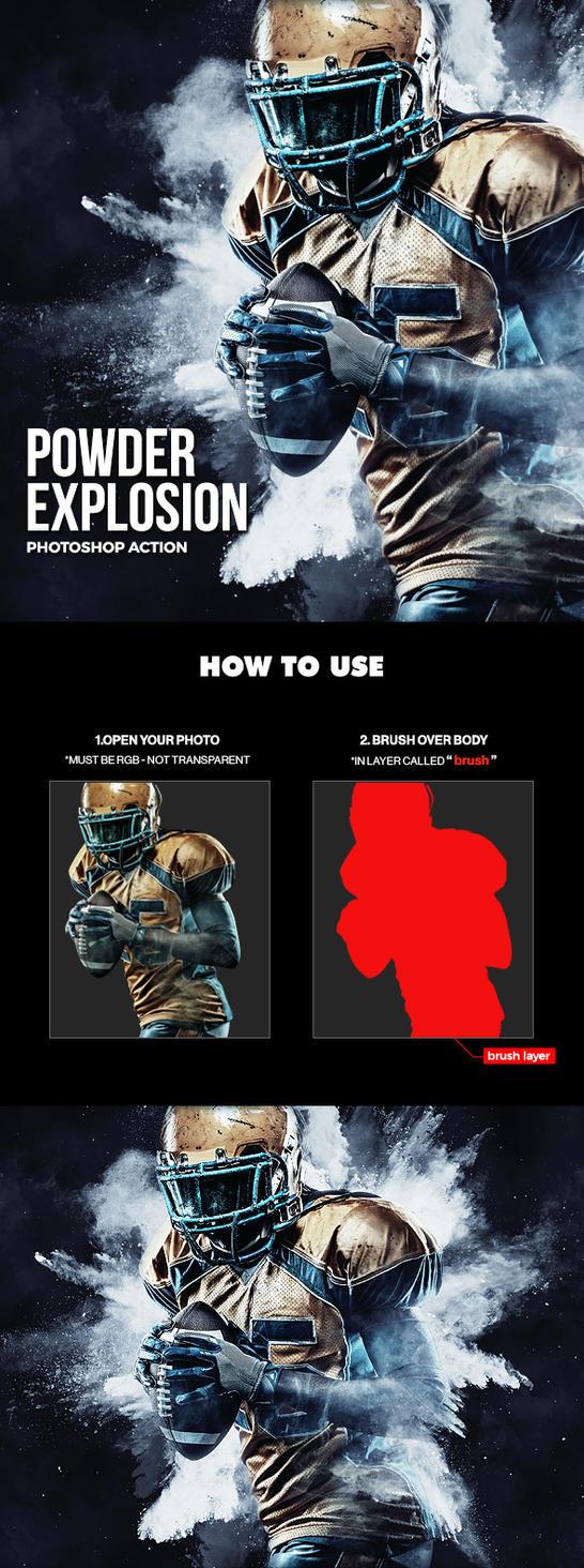 Powder Explosion Photoshop Action by hemalaya