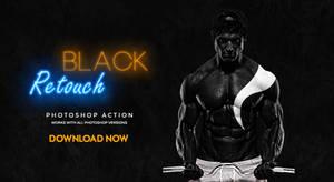 Black Retouch Photoshop Action