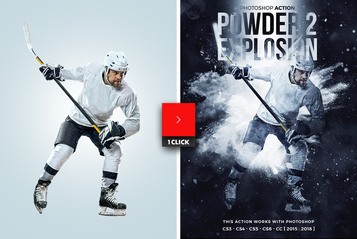 Powder Explosion 2 Photoshop Action by hemalaya