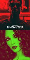 Monotone Oil Paint Photoshop Action