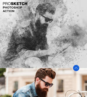 Pro Sketch Photoshop Brushes and Action