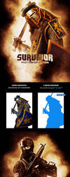 Survivor Photoshop Brushes And Action by hemalaya