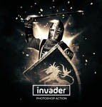 Invader Photoshop Action and Brushes