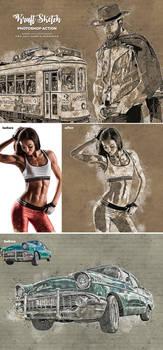 Kraft Sketch Photoshop Action - Pencil Effect