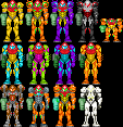 Custon Metroid Sprites by OfficialToyChica40