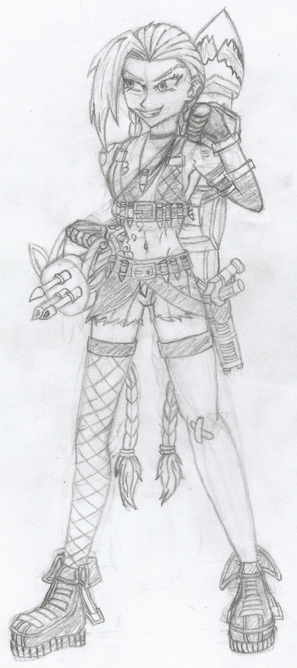 jinx the loose cannon by sayer09 on deviantart