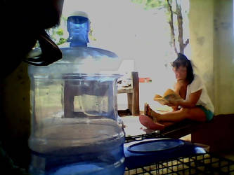 5 Gallon Water Jug And Mom-Homeless Day 2 by Forbidden-Hanyou