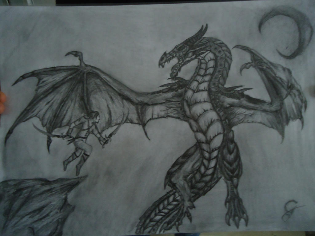 basic how to draw skyrim dragon