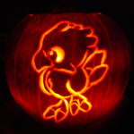 Chocobo Pumpkin Carving 2006