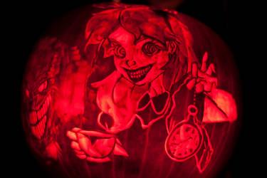 Twisted Alice In Wonderland Pumpkin 2013
