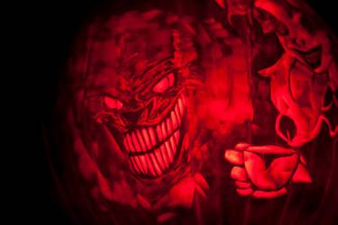 Twisted Alice In Wonderland Chesire Pumpkin 2013