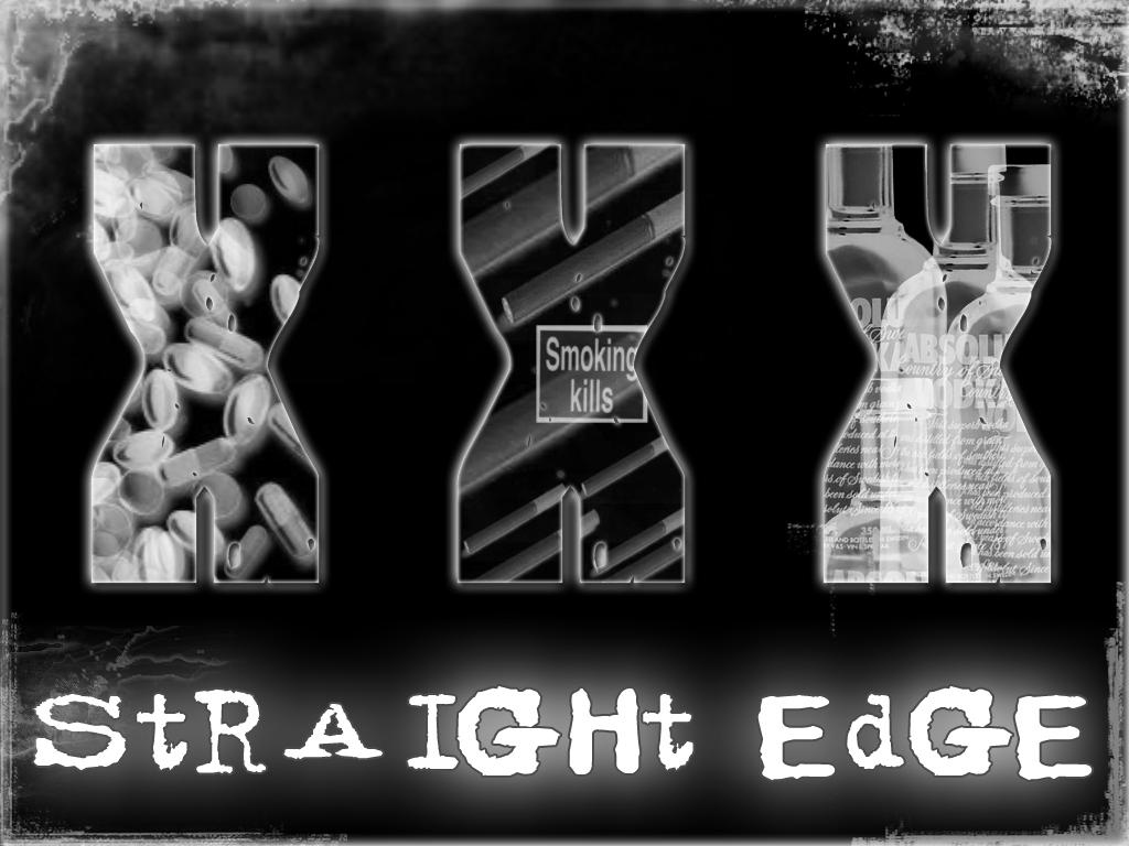 Straight Edge - wallpaper by ~x-vegan-x