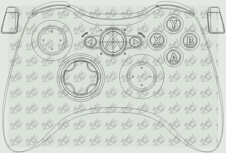 Xbox 360 Controller Lineart By Bug Productions On Deviantart