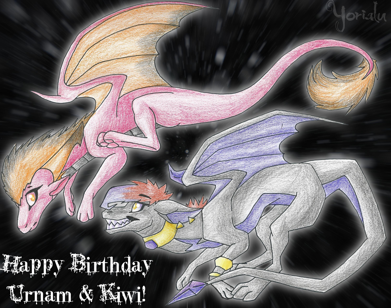 Happy Birthday Urnam and Kiwi by Yorialu