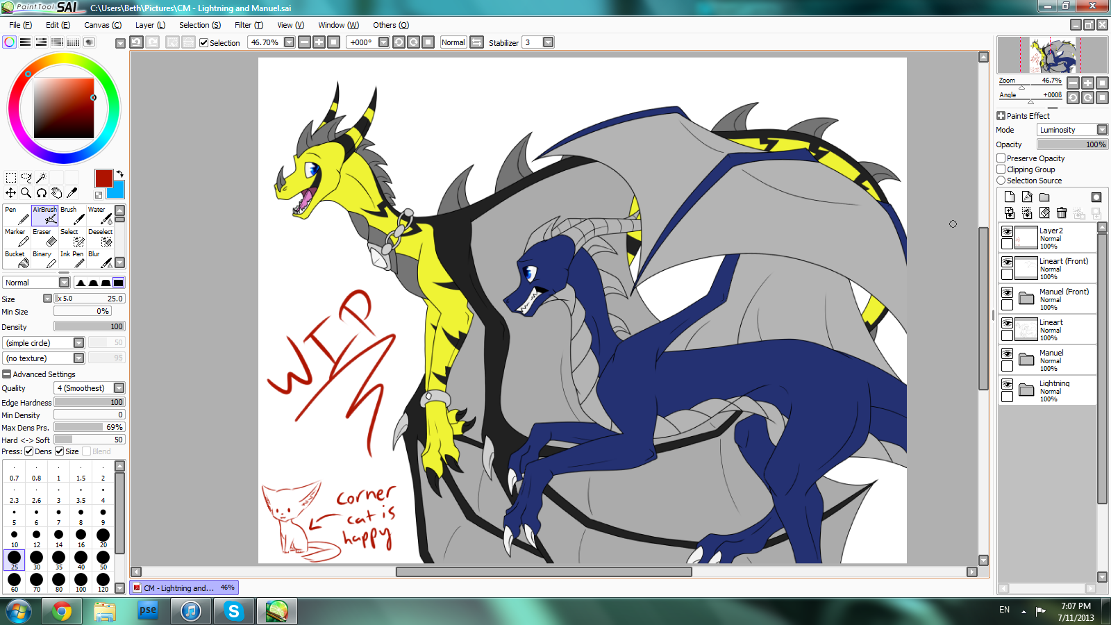 CM for LightningTDragon WIP by Yorialu