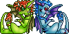 Sybil and Kaigara Icons by Yorialu