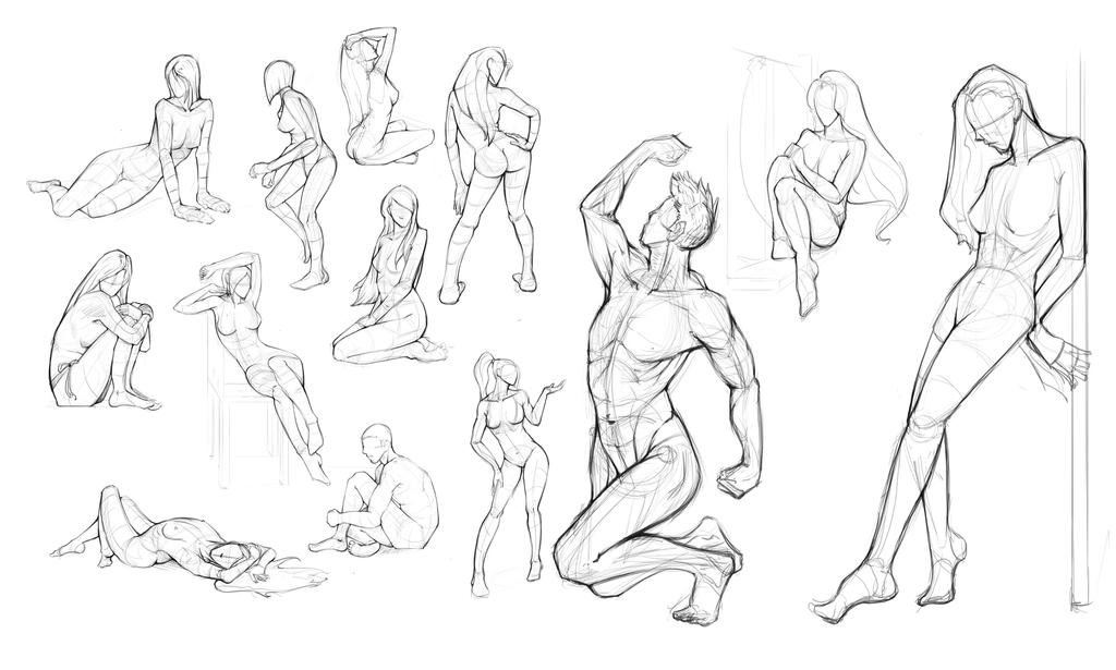 Anatomy Practice. by keshanlam on DeviantArt