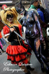 catwoman  Body paint and harley quinn steampunk