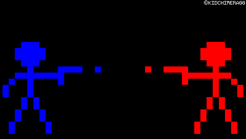 PSP Wallpaper: Red Vs. Blue by KidChimera00